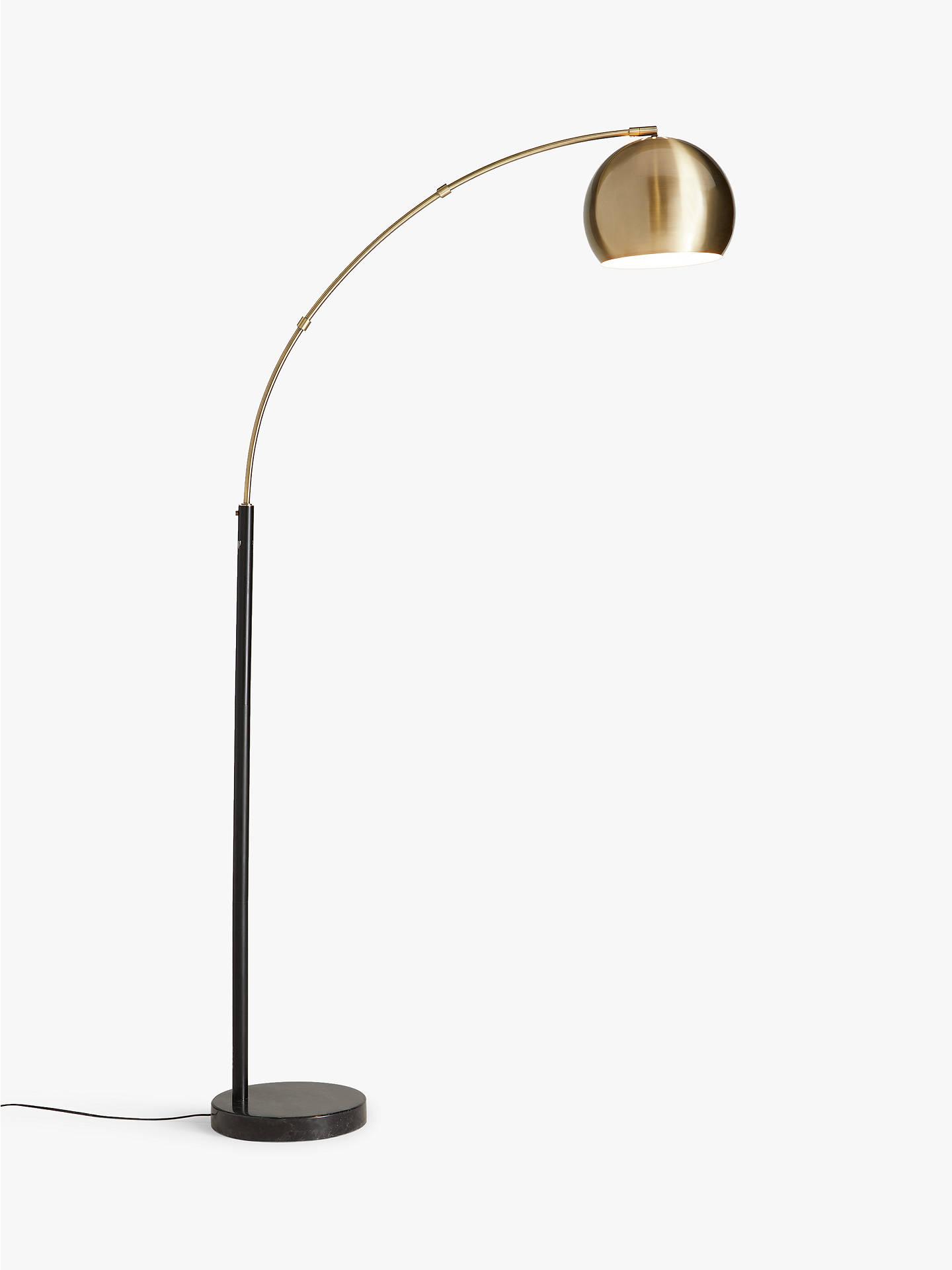 John Lewis & Partners Hector Floor Lamp, Antique BrassBlack