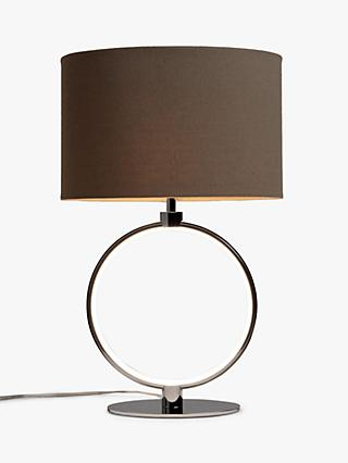 John Lewis & Partners Unna LED Ring Table Lamp, Chrome