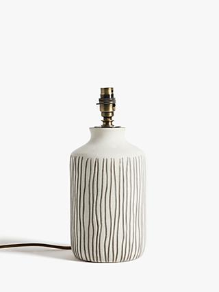 John Lewis & Partners Afra Striped Ceramic Lamp Base