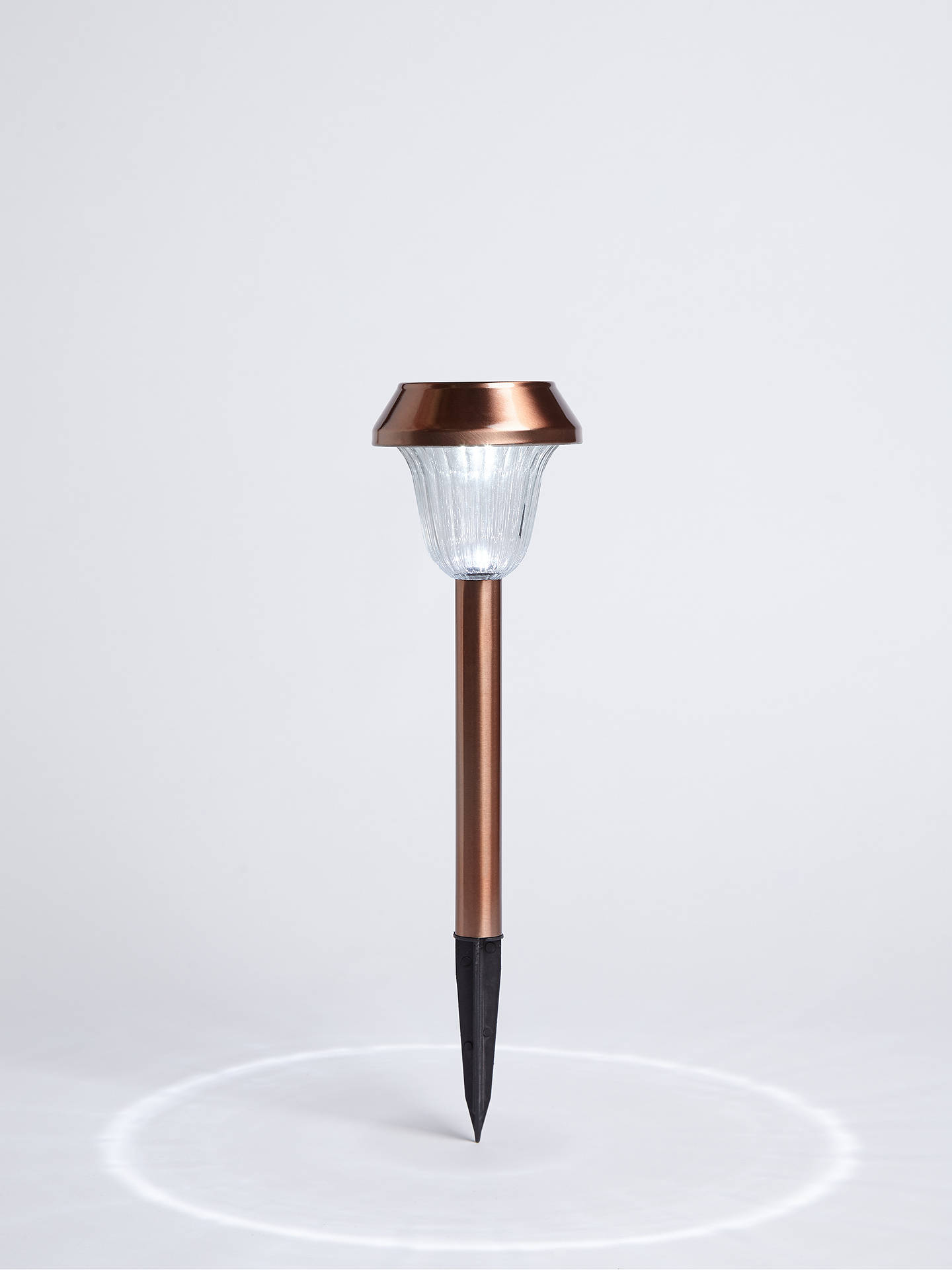 Buy John Lewis & Partners Solar LED Outdoor Stake Lights, Copper, Set of 2 Online at johnlewis.com