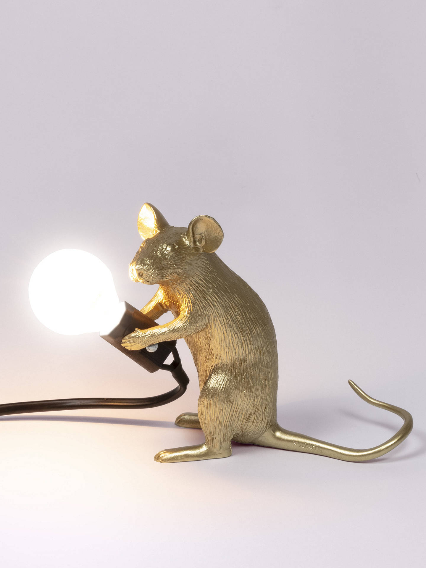 Seletti Sitting Mouse Table Lamp Gold At John Lewis
