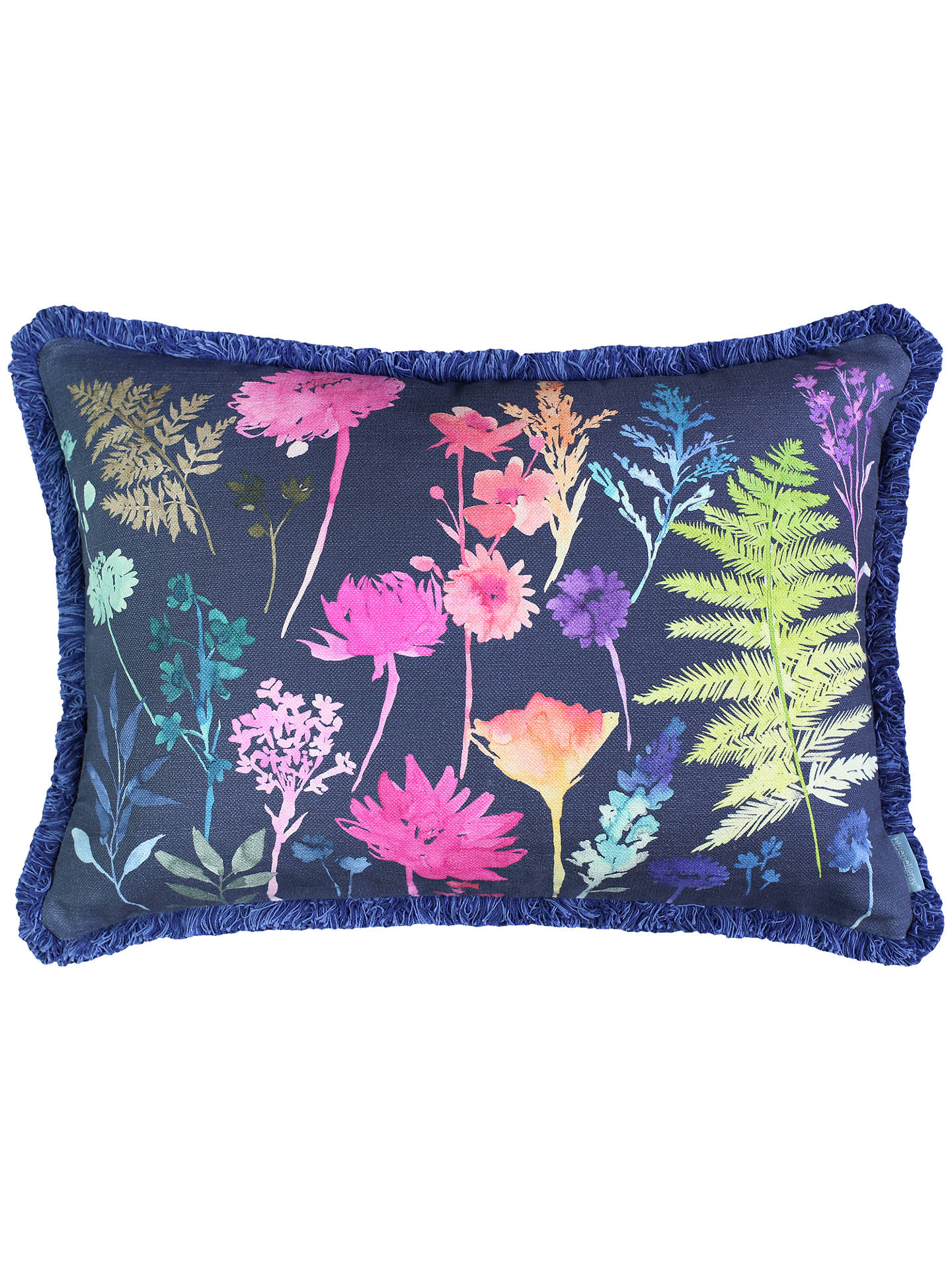 Buy bluebellgray Peggy Rectangular Cushion, Midnight Online at johnlewis.com