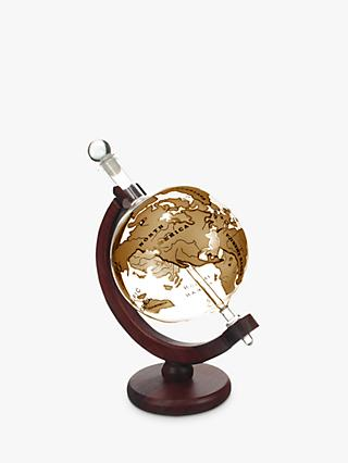 Mixology World Globe Decanter with Ship, 1L, Gold/Clear