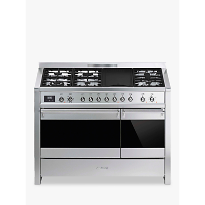 Image of Smeg A3-81 Opera Dual Fuel Range Cooker, Stainless Steel