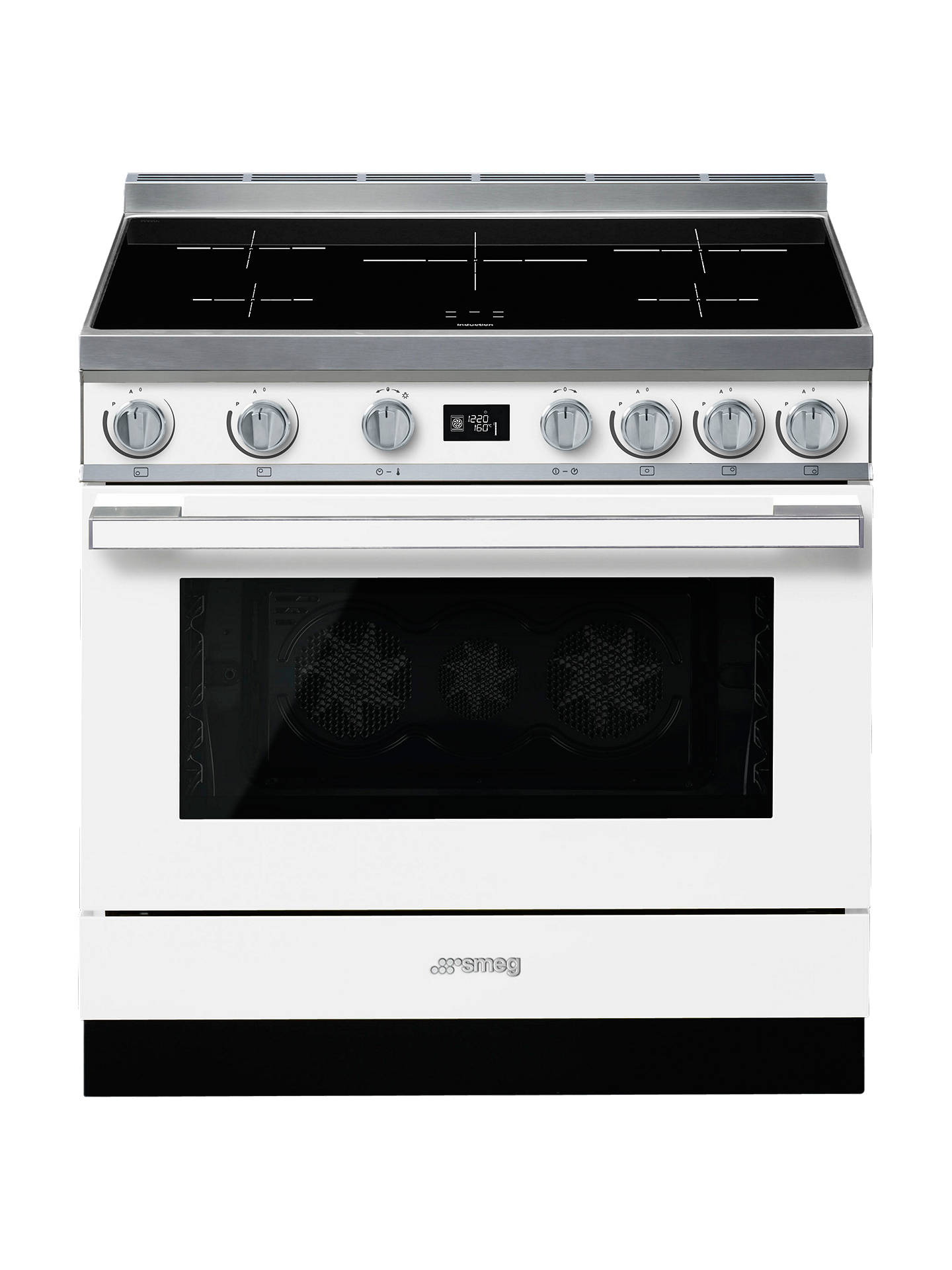 "Buy Smeg CPF9IPWH Freestanding 90cm Multifunction ""Portofino"" Cooker, White Online at johnlewis.com"