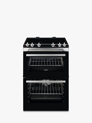 Zanussi ZCV66050XA Electric Hob Double Cooker, A/A Energy Rating, Black