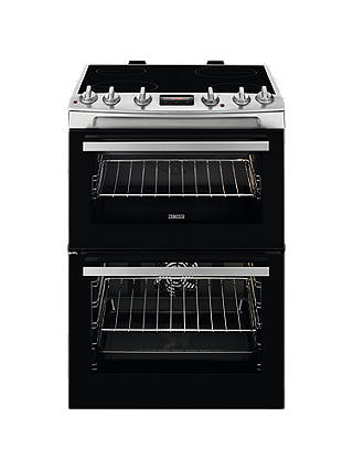 Buy Zanussi ZCV66250XA Freestanding Electric Cooker, A/A Energy Rating, 60cm Wide Online at johnlewis.com