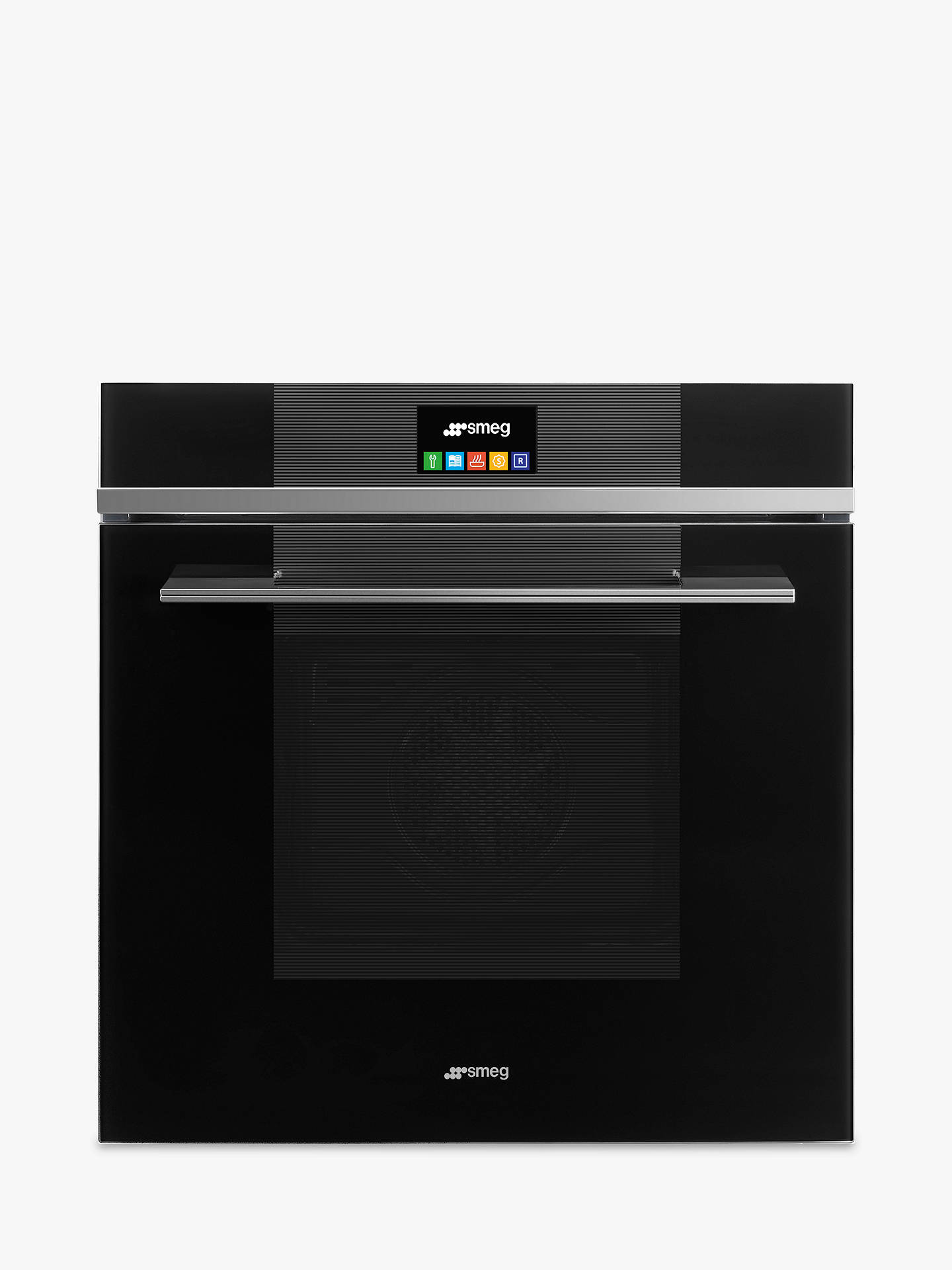 BuySmeg SFP6104TVN Linea Built-In Pyrolytic Single Oven with LCD Touch Display, Black Glass Online at johnlewis.com