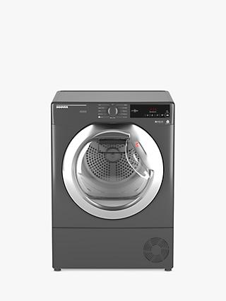 Hoover DXC9TCER Condenser Tumble Dryer, 9kg Load, B Energy Rating, Grey