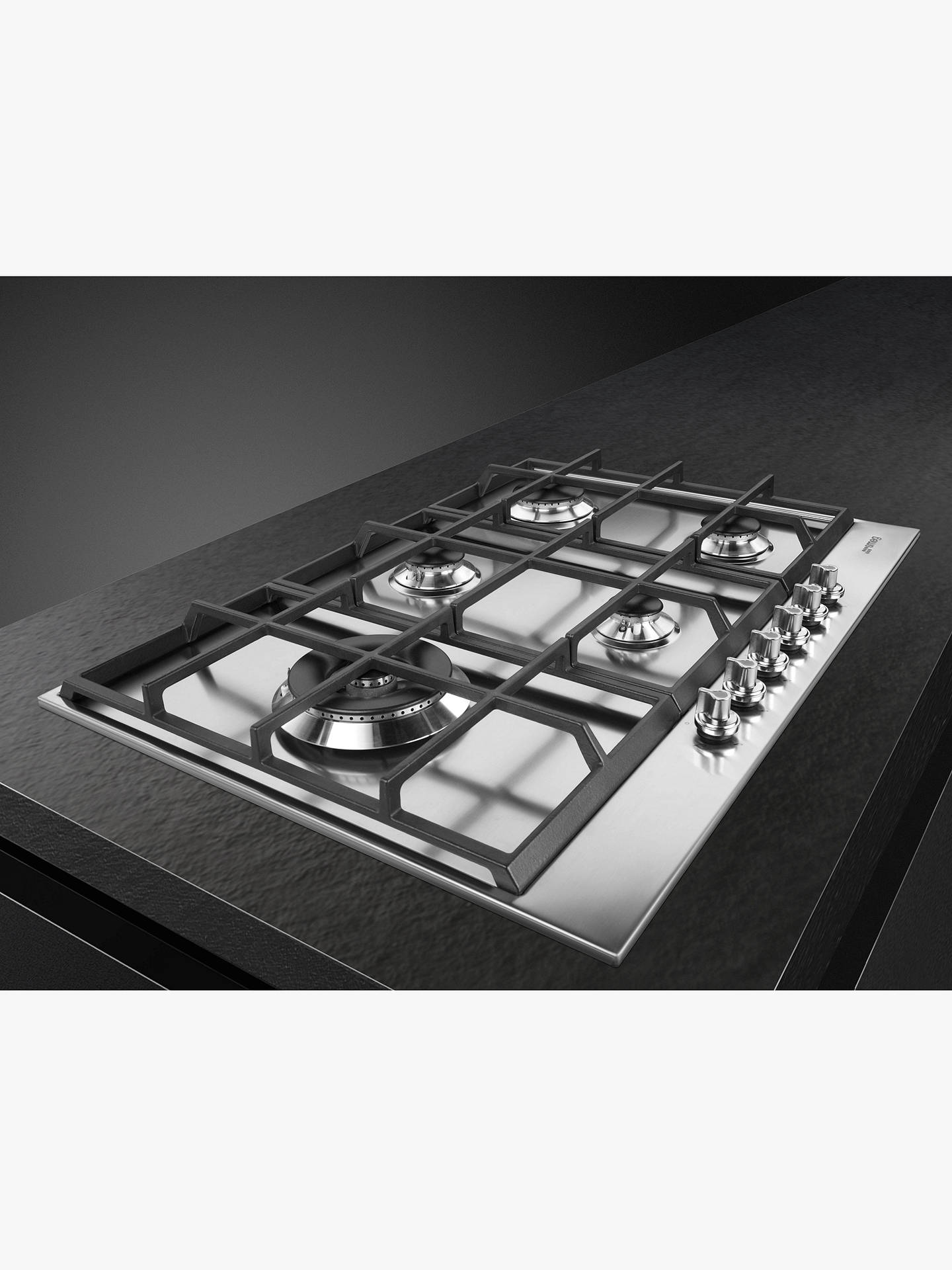 BuySmeg PX175L 72.5cm Linea Gas Hob, Stainless Steel Online at johnlewis.com