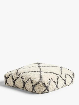 John Lewis & Partners Berber Floor Cushion, Mono