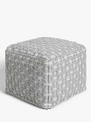 Buy John Lewis & Partners Prism Pouffe, Grey Online at johnlewis.com