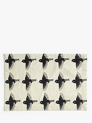 John Lewis & Partners Flying Birds Placemats, Set of 2, Black/Multi