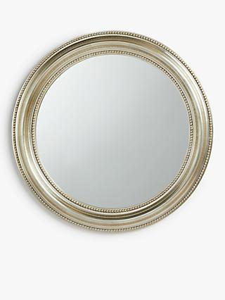 John Lewis & Partners Round Bead Mirror, 76cm, Champagne