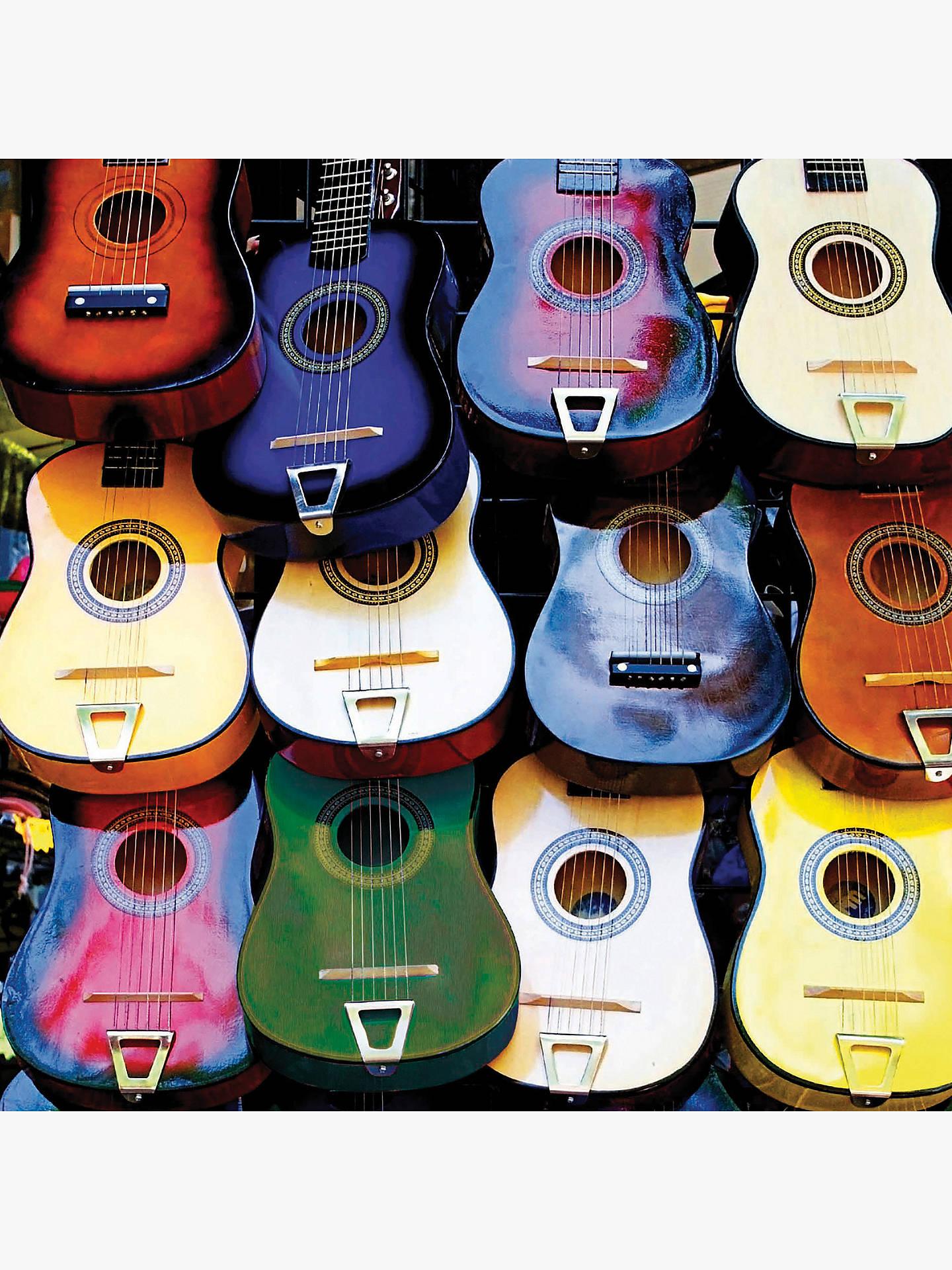 Buy Woodmansterne Hanging Coloured Guitars Birthday Card Online At Johnlewis