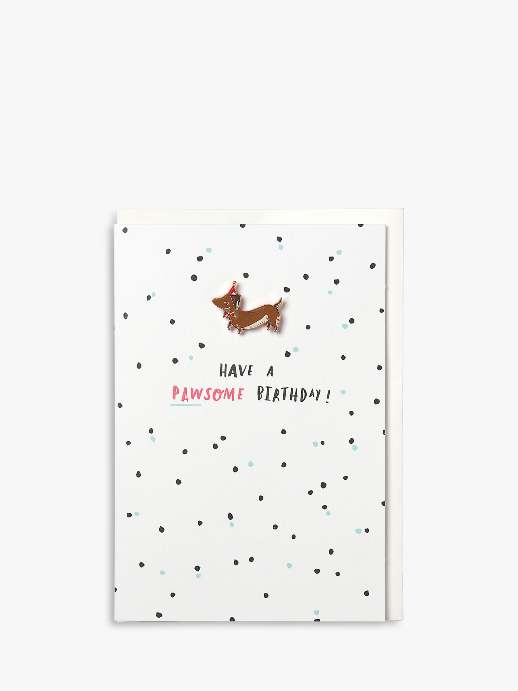 Hotchpotch Hotchpotch Dachshund Pawsome Birthday Card
