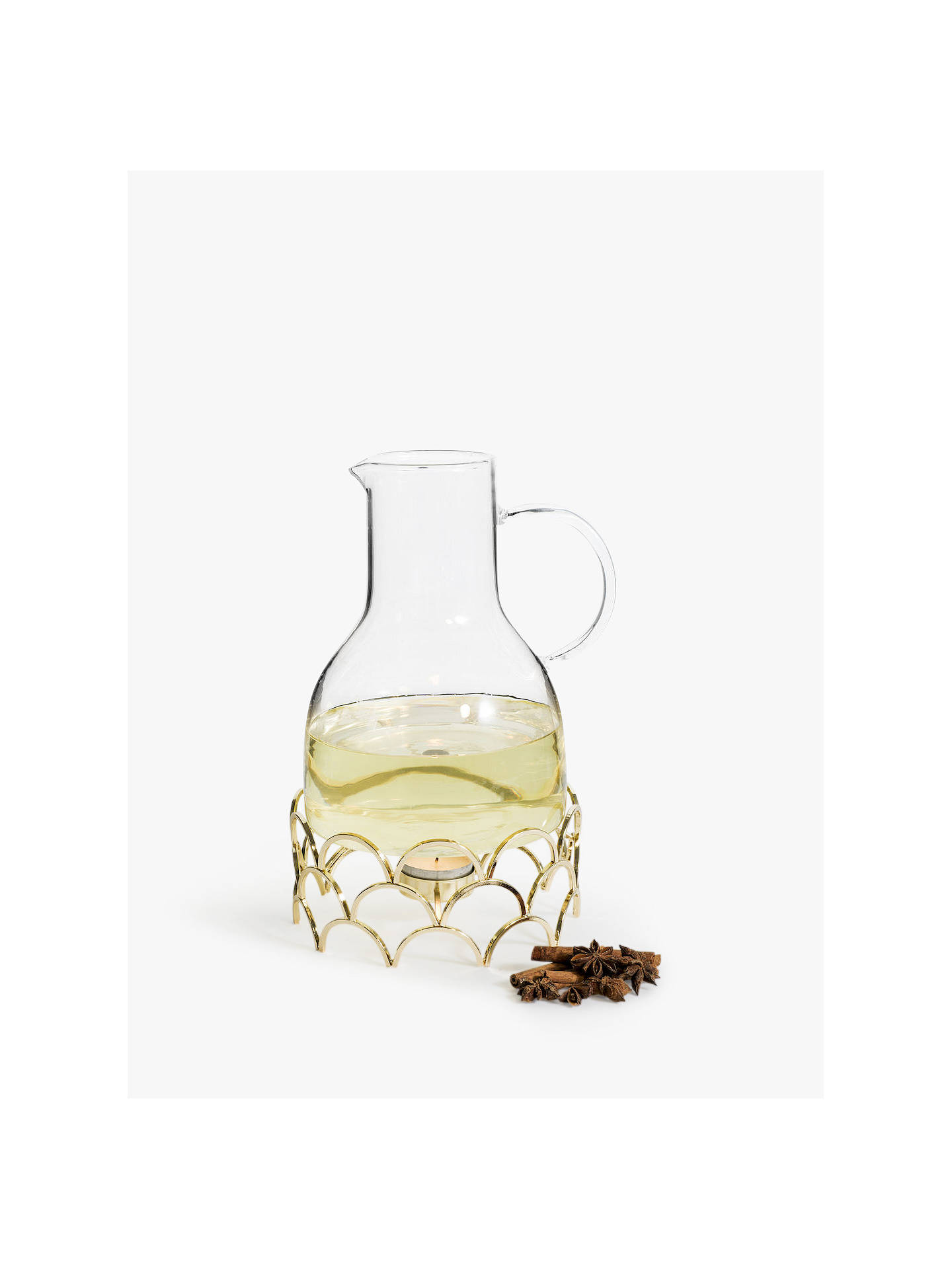 BuySagaform Mulled Wine Warmer Jug, 1.3L, Clear Online at johnlewis.com