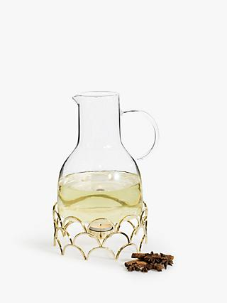 Sagaform Mulled Wine Warmer Jug, 1.3L, Clear