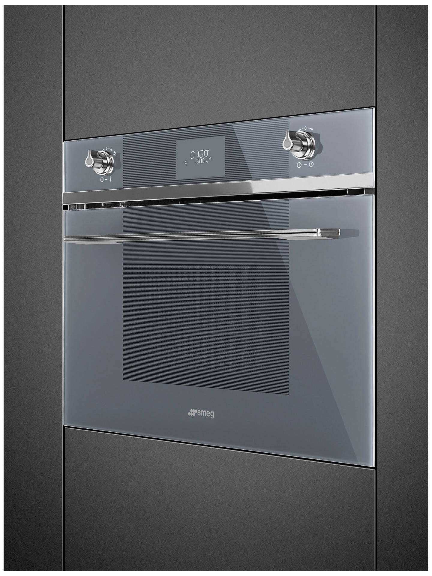 BuySmeg SF4101MS Built-in Combination Microwave and Grill, Silver Glass Online at johnlewis.com