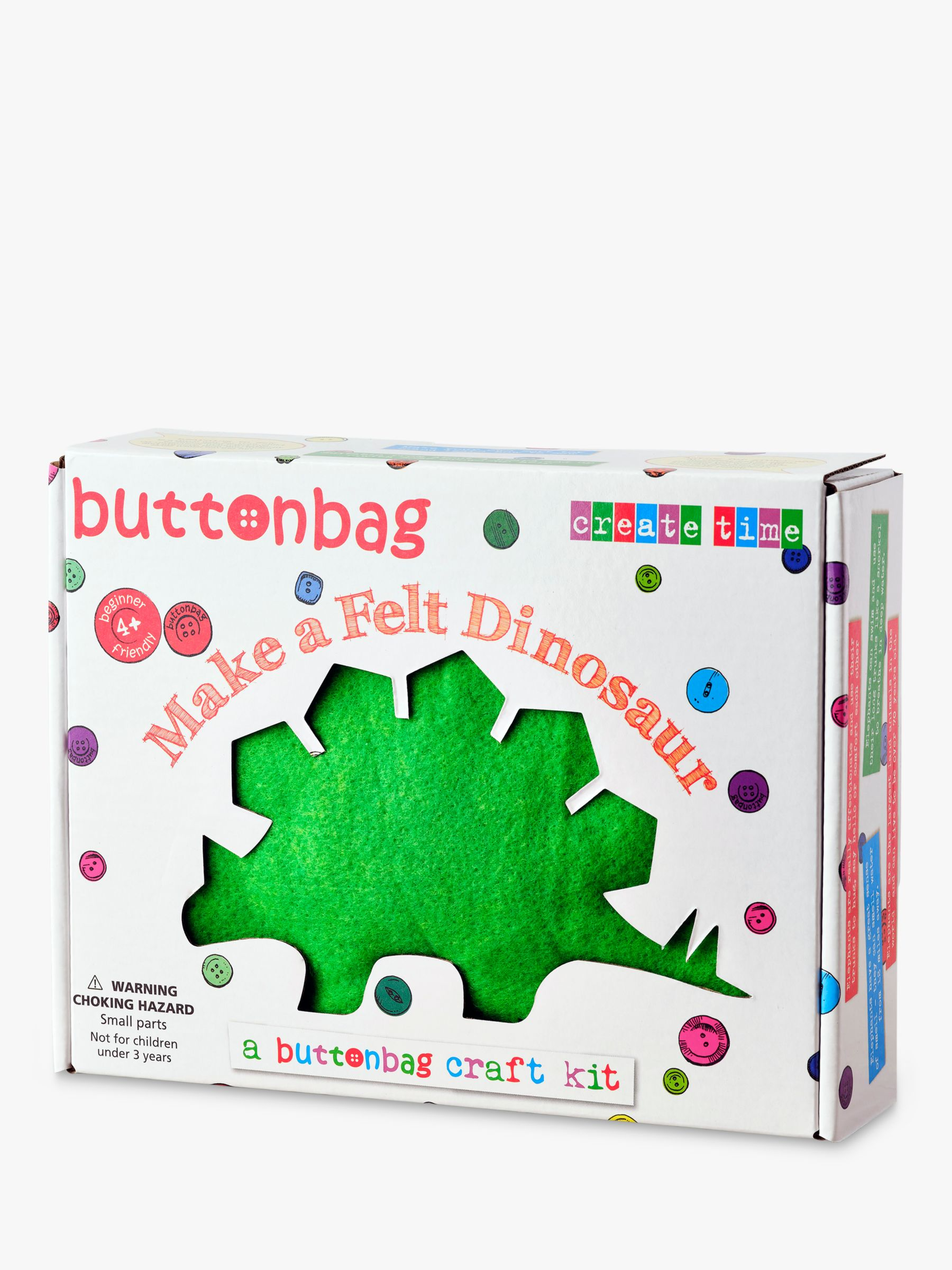 Buttonbag Buttonbag Starter Sewing Kit, Dinosaur