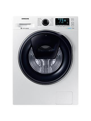 Samsung WW90K6414QW/EU Washing Machine, 9kg Load, A+++ Energy Rating, 1400rpm Spin, White