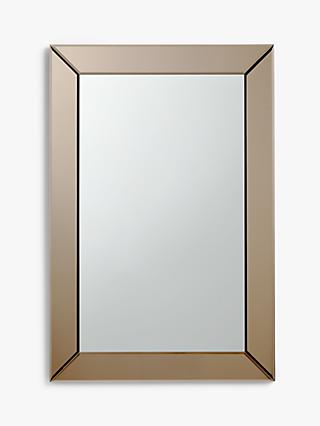John Lewis & Partners Bevel Simple Wall Mirror, 90 x 60cm