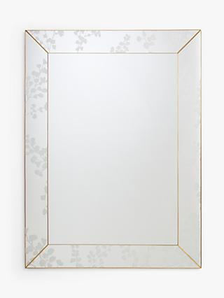 John Lewis & Partners Everdene Etched Mirror, 102 x 76cm, Clear