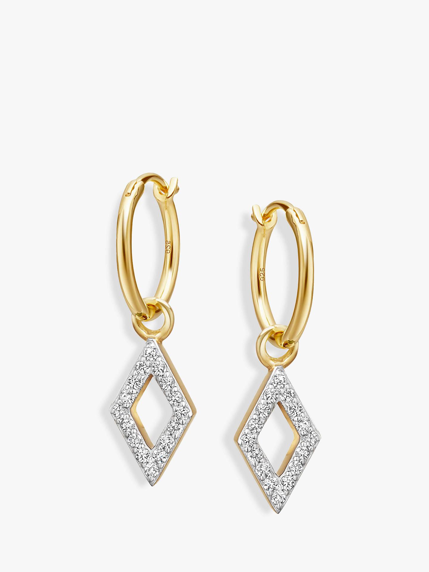 Missoma Diamond Charm Hoop Earrings Gold