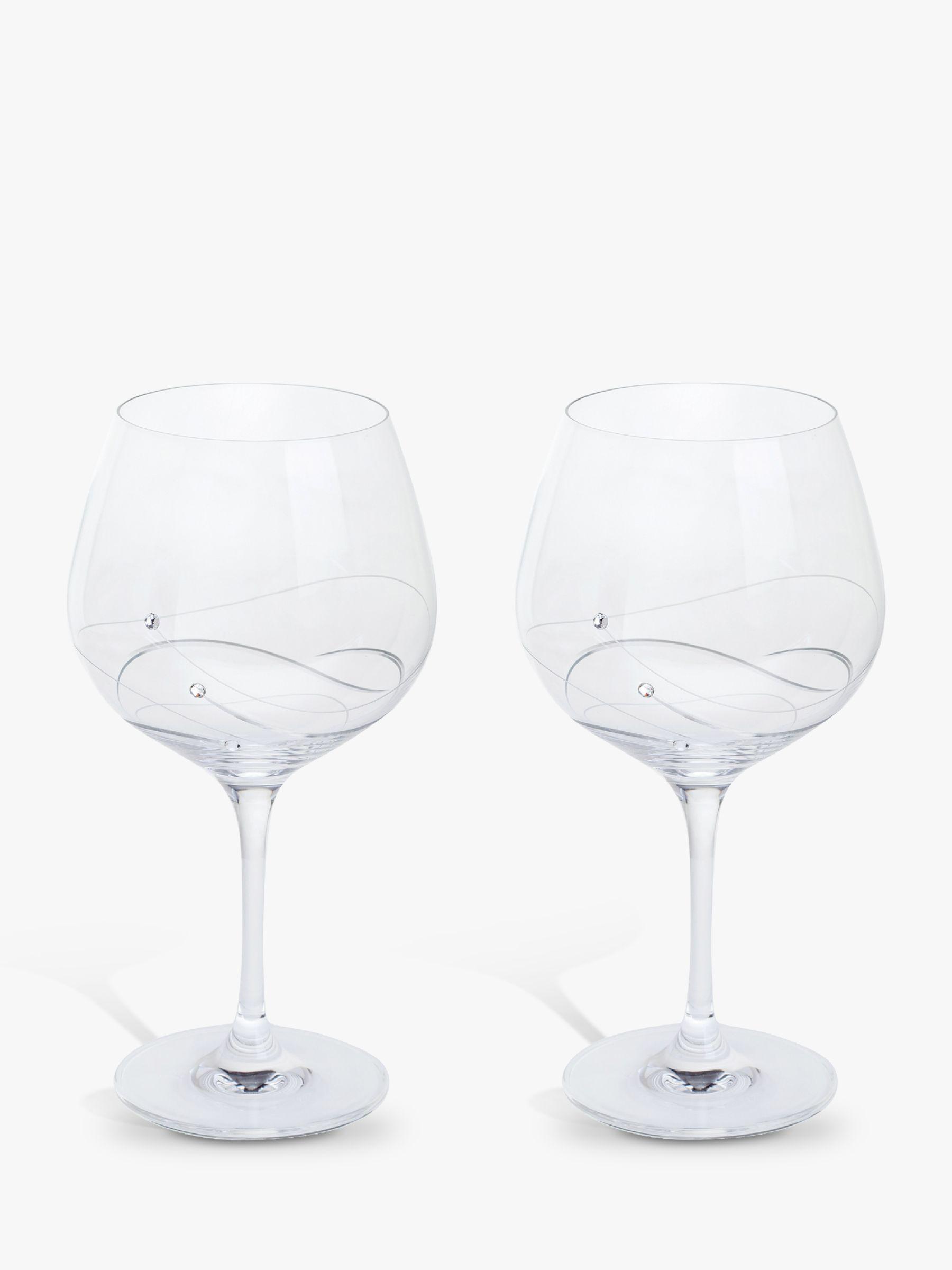 Dartington Crystal Dartington Crystal Glitz Gin and Tonic Copa Glass, 610ml, Set of 2