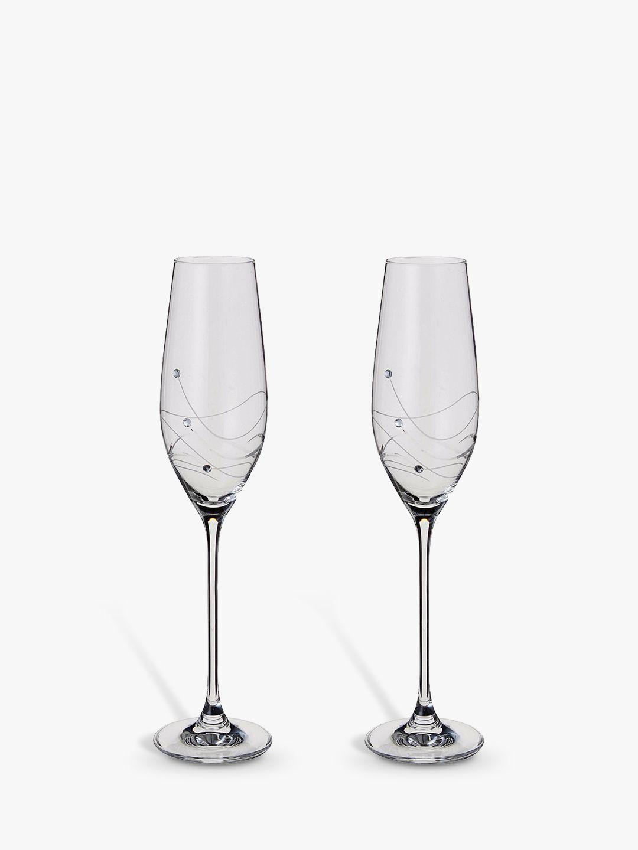 Dartington Crystal Dartington Crystal Glitz Champagne Flutes, 210ml, Set of 2