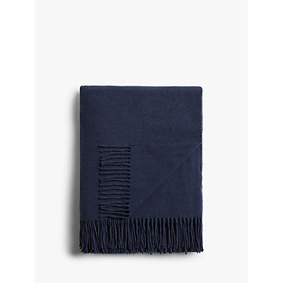 John Lewis & Partners Plain Wool Throw