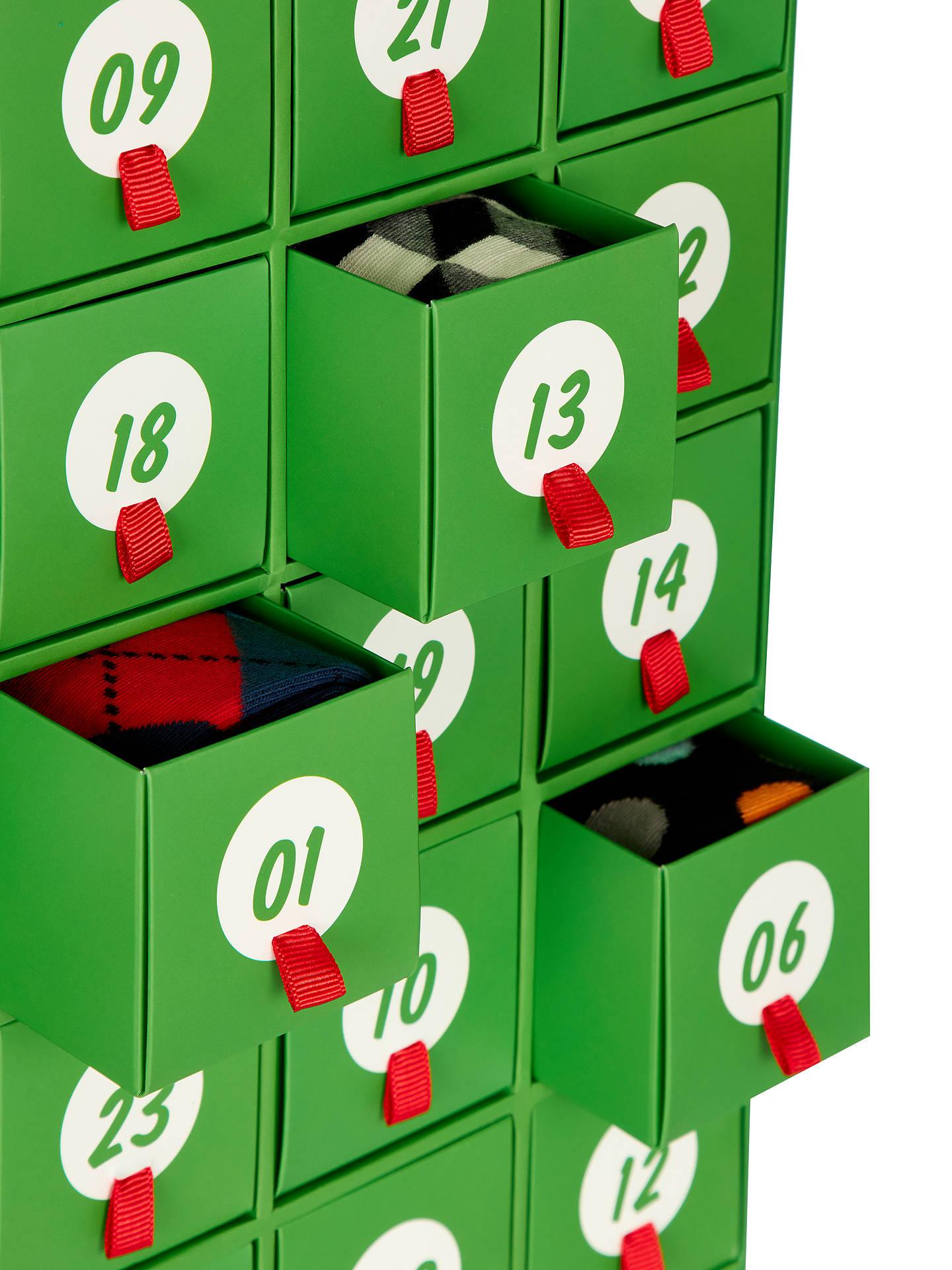 happy socks sock advent calendar one size pack of 24. Black Bedroom Furniture Sets. Home Design Ideas