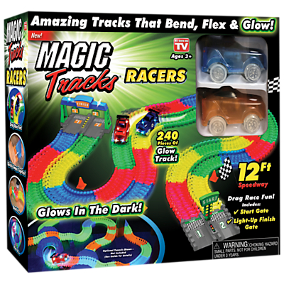 Magic Tracks Glow In The Dark Racer Set