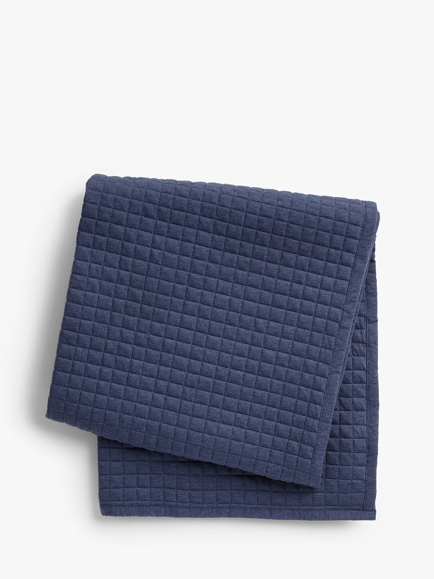 Buy House by John Lewis Jersey Bedspread, Navy Online at johnlewis.com