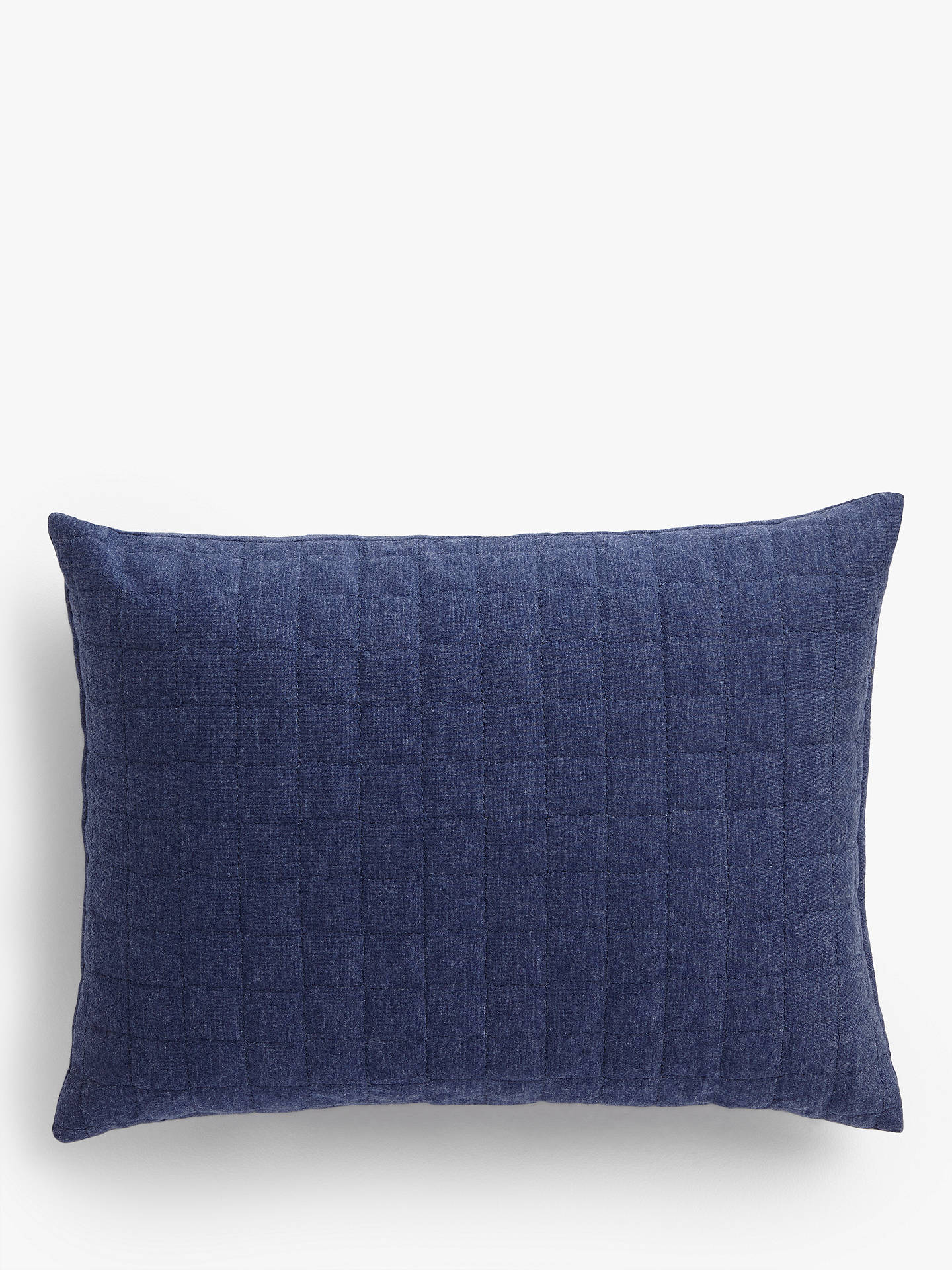 Buy House by John Lewis Jersey Cushion, Navy Online at johnlewis.com