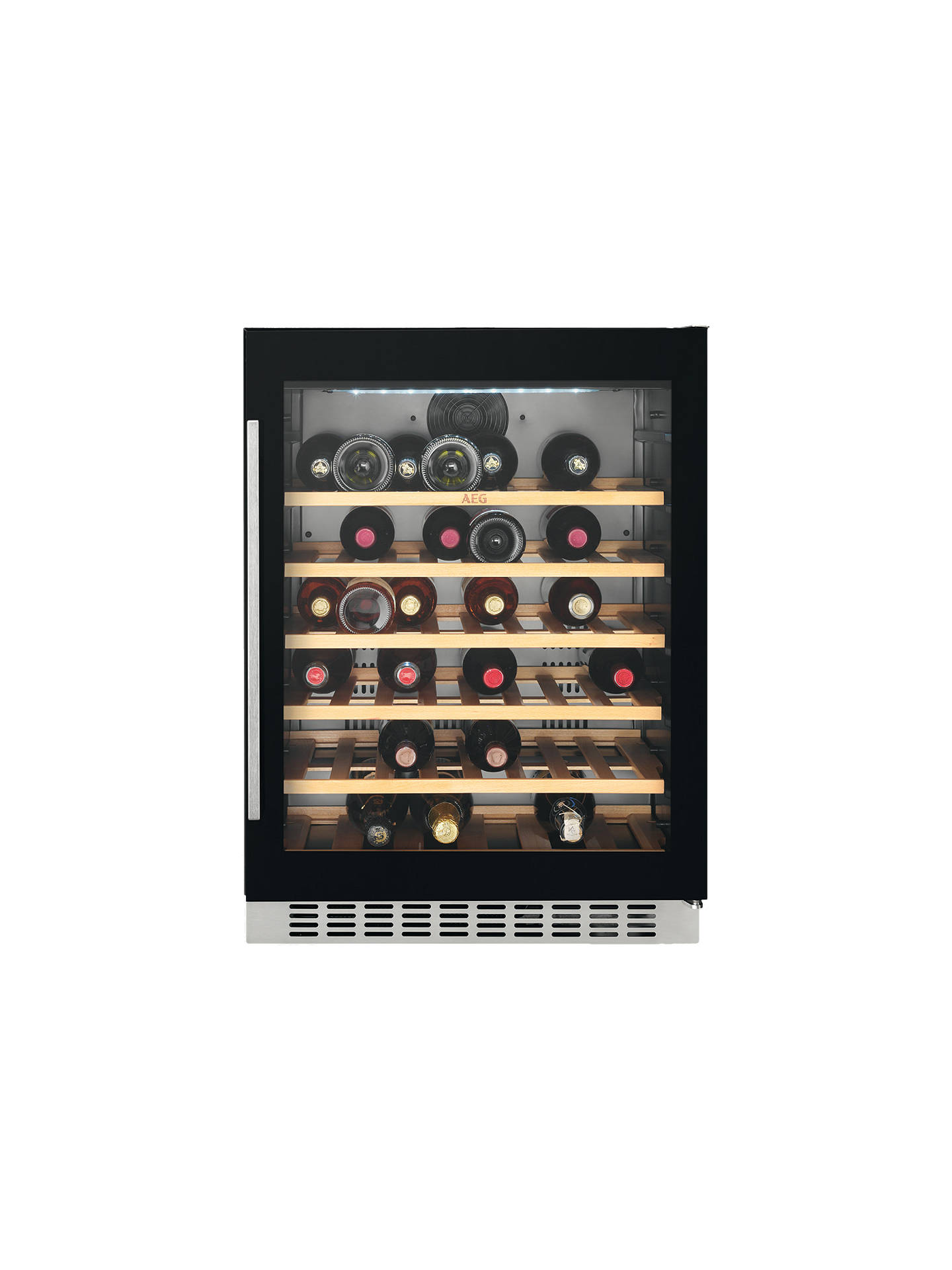Buy AEG SWE66001DG 52 Bottle Wine Cooler, Black Online at johnlewis.com