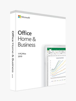 Microsoft Office Home and Business 2019, 1 PC, One-Off Payment, for Windows 10 and macOS