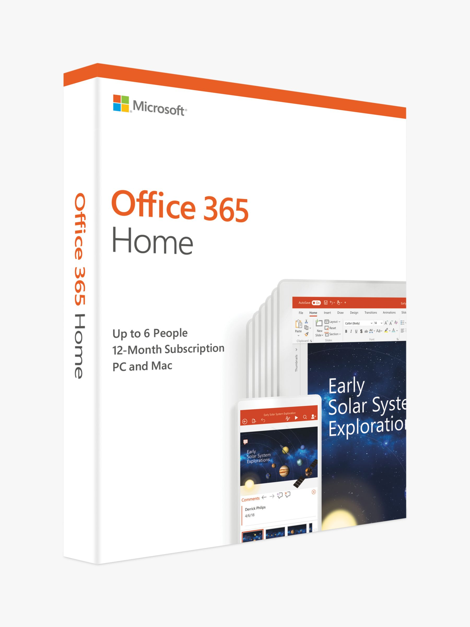 Microsoft Microsoft Office 365 Home Premium, PC/Mac, Tablets and Smartphones, One-Year Subscription