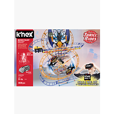 K'Nex Bionic Blast Roller Coaster Building Set