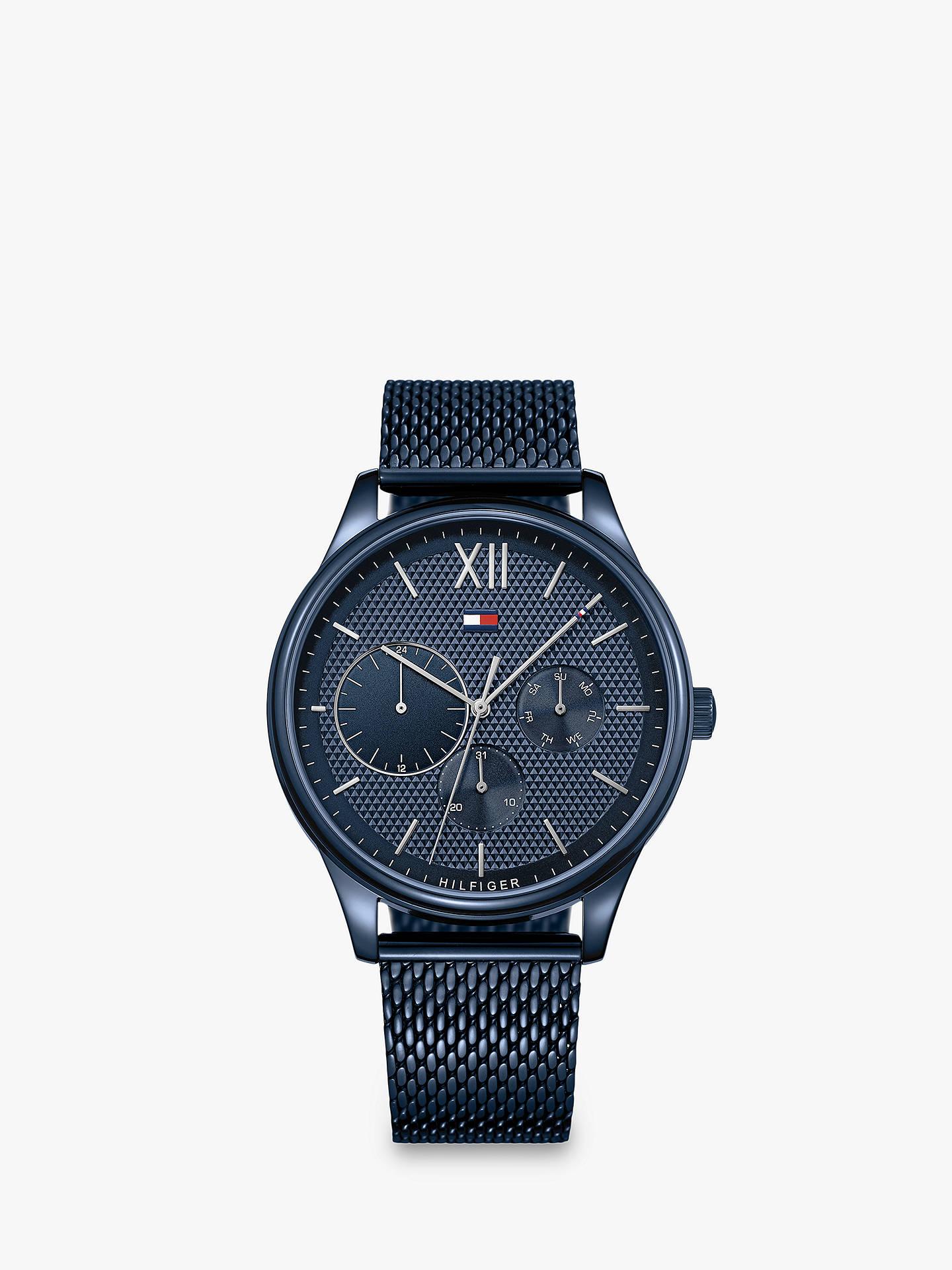 BuyTommy Hilfiger Men s Damon Single Chronograph Day Mesh Bracelet Strap  Watch, Blue 1791421 Online at a92c4c15ba