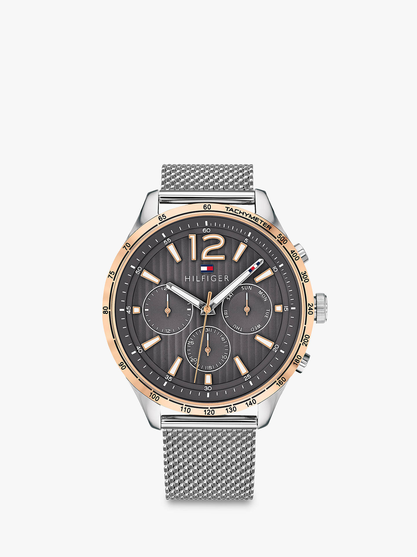 BuyTommy Hilfiger 1791466 Men s Gavin Chronograph Bracelet Strap Watch,  Silver Grey Online at johnlewis 2ad7be1ee9