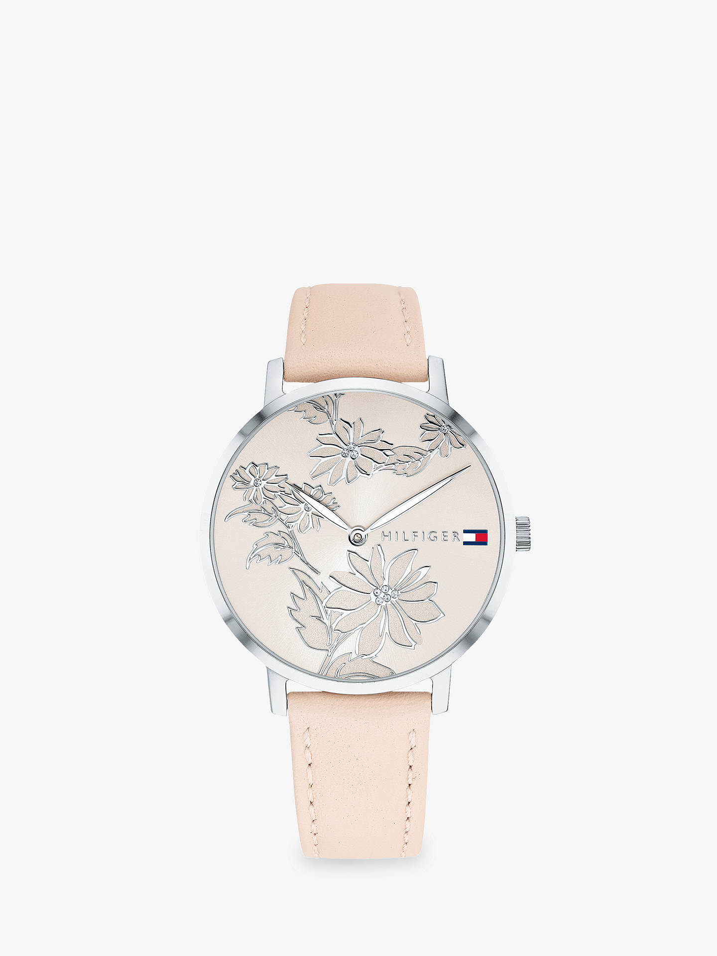 BuyTommy Hilfiger 1781919 Women s Pippa Floral Dial Leather Strap Watch,  Blush Online at johnlewis. 46a3a539a4