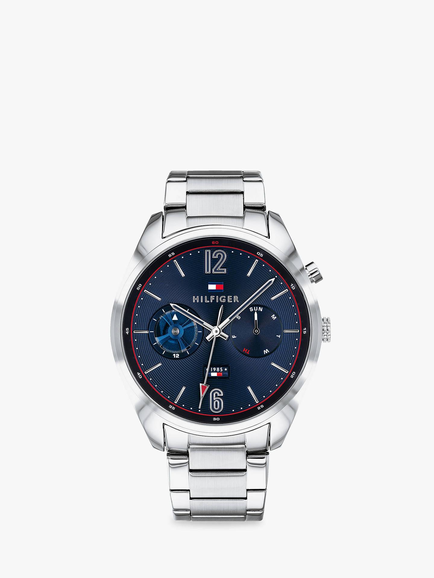 BuyTommy Hilfiger 1791551 Men s Deacon Chronograph Day Bracelet Strap  Watch, Silver Blue Online at 8885fbf102