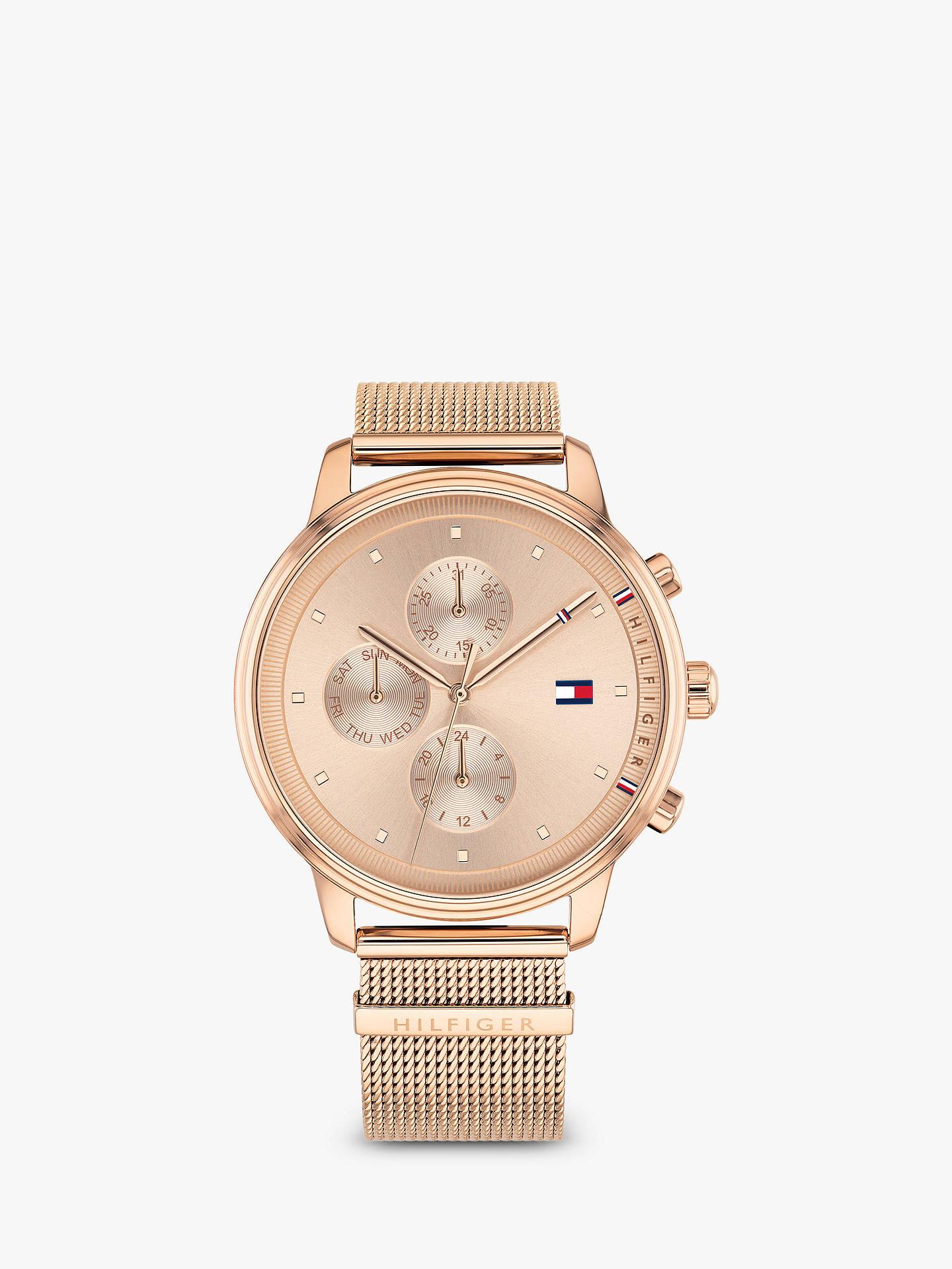 bb542120ea Buy Tommy Hilfiger 1781907 Women's Blake Chronograph Mesh Bracelet Strap  Watch, Rose Gold Online at