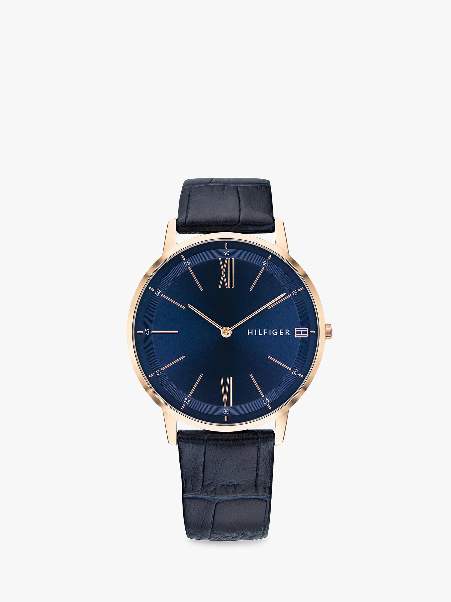ef66a53d7de815 Buy Tommy Hilfiger 1791515 Men s Cooper Leather Strap Watch