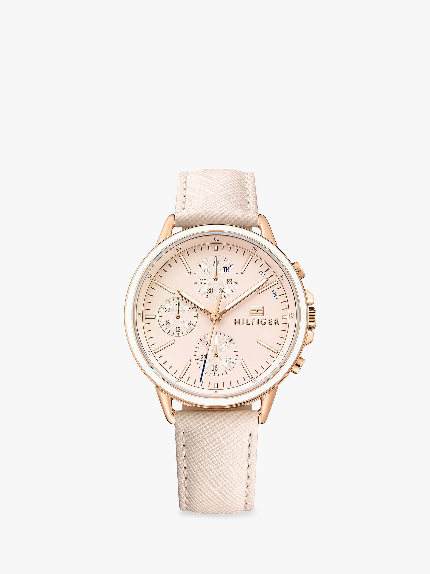6226327a0 Buy Tommy Hilfiger Women's Carly Chronograph Leather Strap Watch, Blush  1781789 Online at johnlewis.