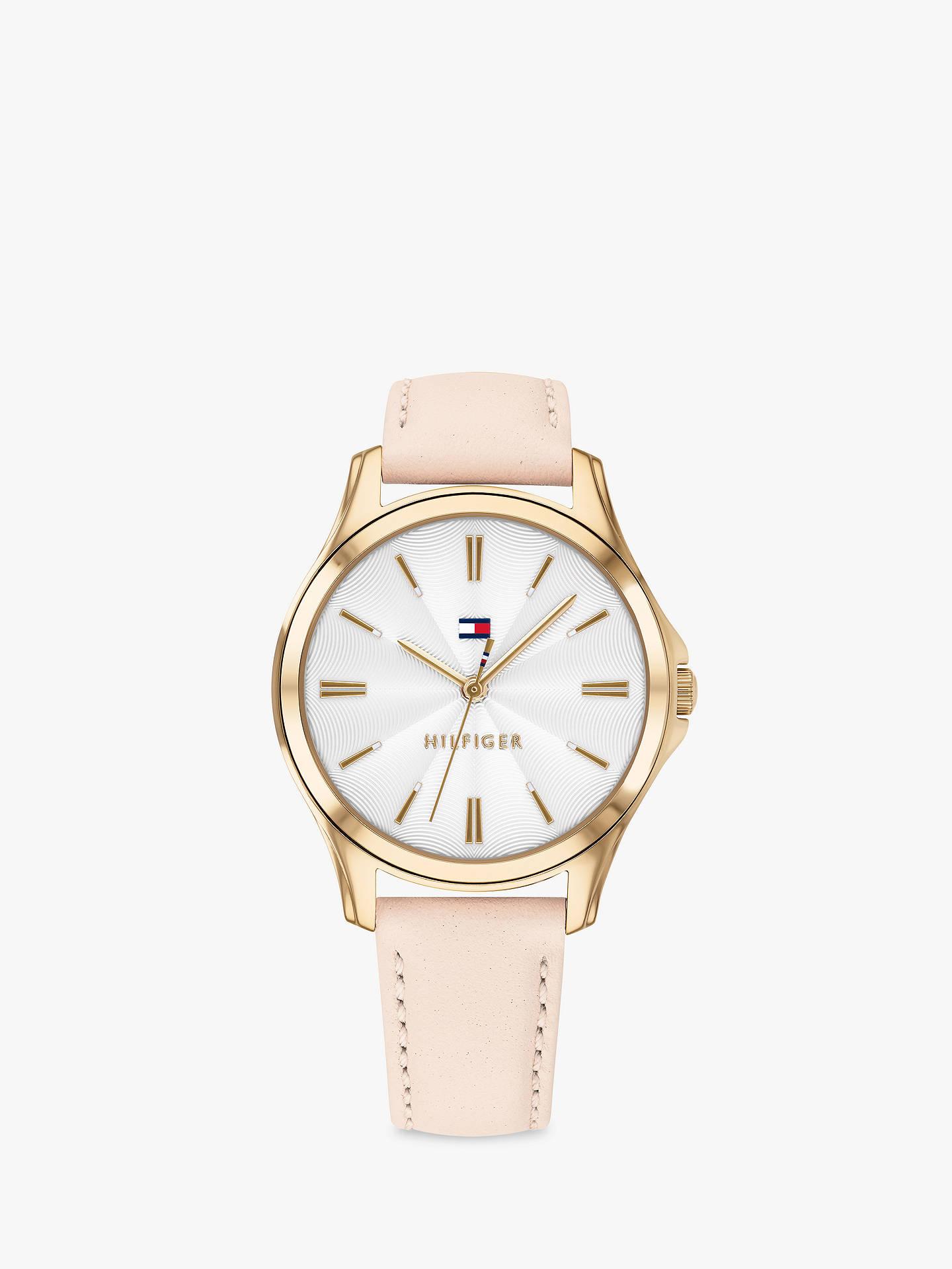 BuyTommy Hilfiger 1781954 Women s Lori Leather Strap Watch, Blush White  Online at johnlewis. 9d9267615e