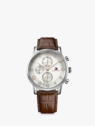 39b08796eb44 Tommy Hilfiger Men s Kane Chronograph Leather Strap Watch