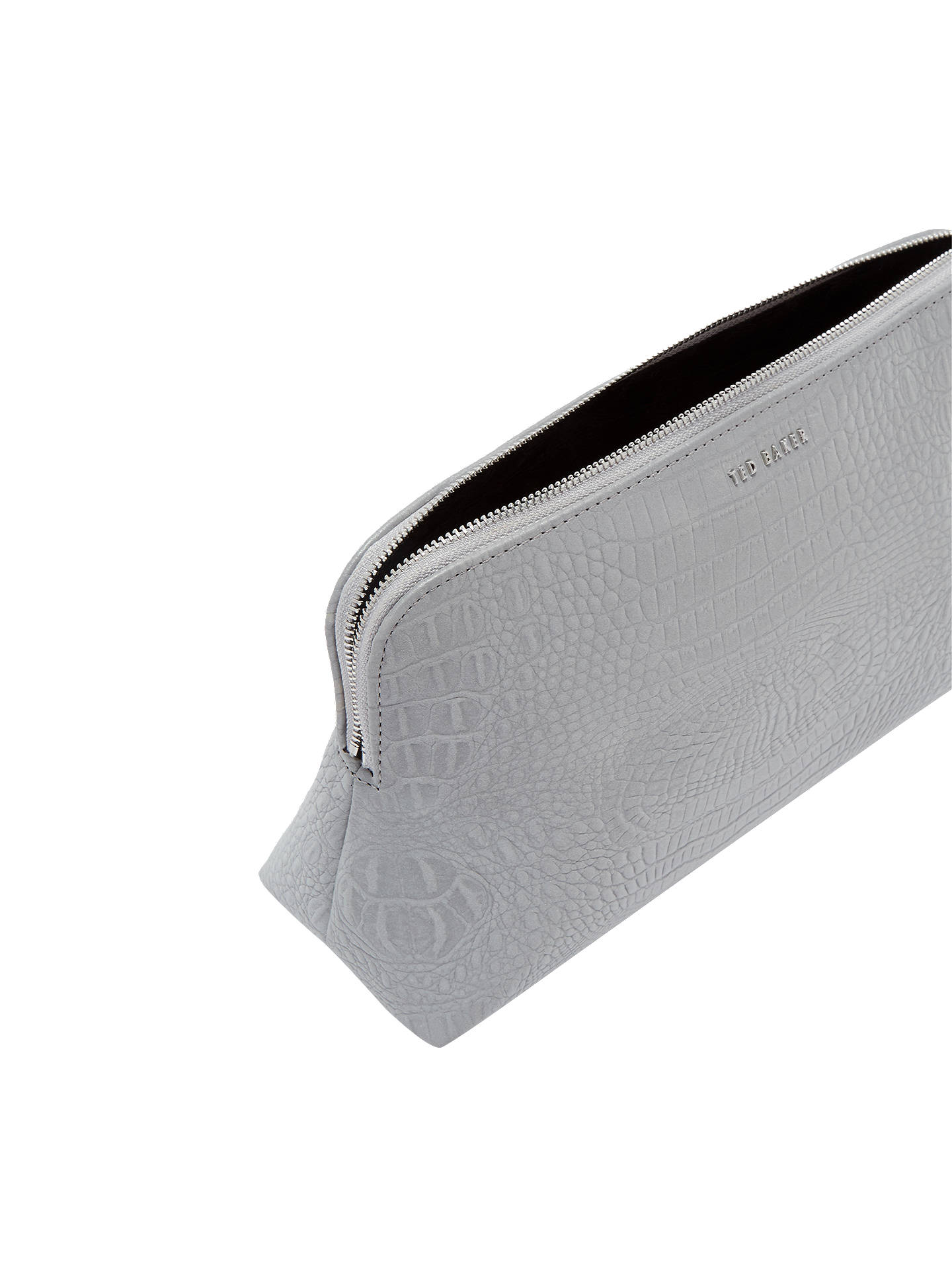 BuyTed Baker Tawny Croc Effect Wash Bag, Silver Online at johnlewis.com