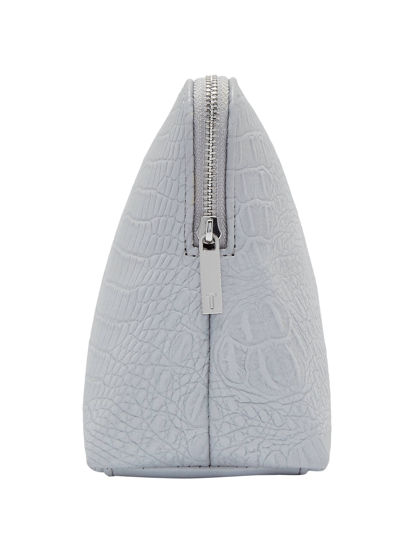 Buy Ted Baker Tawny Croc Effect Wash Bag, Silver Online at johnlewis.com